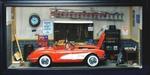 1958 Corvette +  Garage Diorama