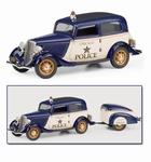 1933 Ford Deluxe V-8 Tudor Police + Trailer